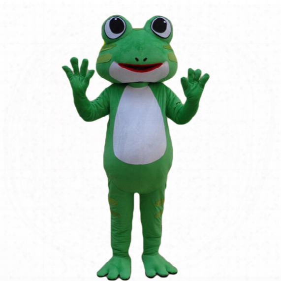 Customized Mascots Green Frog Mascot Costume Adlut Outfits Frog Cartoon Character Mascots For Sale