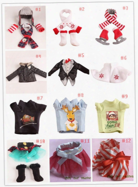 Dhl/ups/fedex/tnt Plush Doll Clothes 12 Styles Tuxedo Suit Scarf & Skates 40pcs Doll Clothing Setl Skirts & Boots Clothes Free Shipping