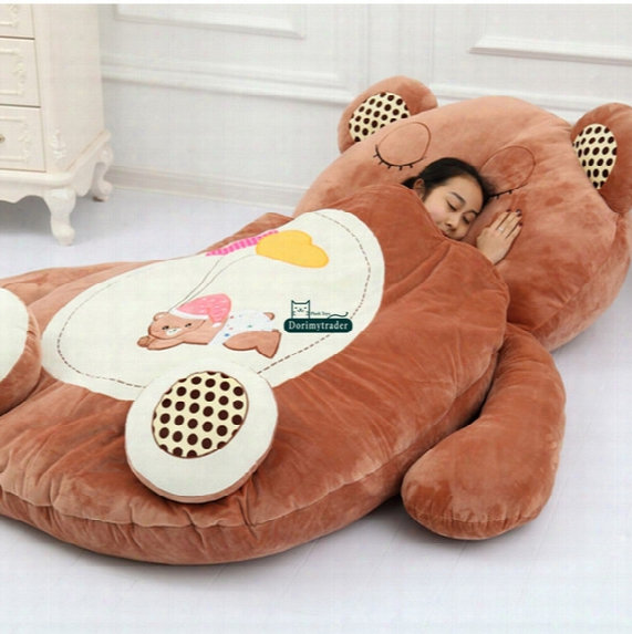Dorimytrader Hot Animal Beanbag Giant Stuffed Soft Plush Cartoon Bed Carpet Tatami Mattress Sofa 3 Models W Ith 2 Sizes Free Shipping Dy60497