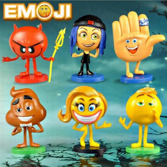 Emoji Movie Action Figures Jailbreak Gene Poop Ice Cream Mel Meh Poop Daddy Model Toys 6pcs/set Ooa1906