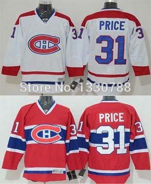 Factory Outlet, Men's Cheap Authentic Montreal Canadiens Carey Price Jersey Red Home White Away Stitched #31 Canadians Ice Hockey Jersey 201