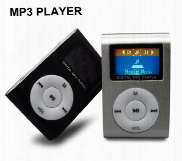 Free Shipping Mini Mp3 Player With Lcd Screen With Tf (micro Sd) Card Slot - Metal Clip Sport Mp3 Players Hot Sell Now!