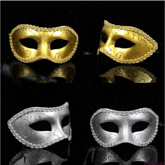 Half Face Plastic Mask Venetian Masquerade Music Ball Mask On Stick Mardi Gras Costume Eyemask Printing Halloween Carnival Party Mask