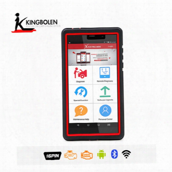 Launch X431 Pro Mini Full System Auto Diagnostic Tool Multi-language Update Online Bluetooth / Wifi With Special Function Dhl Free Shipping