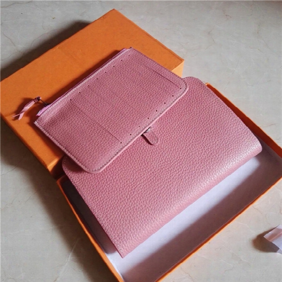 M109 Genuine Leather Cards Passport Holder Women Brand Designer Free Shipping Handbag Wallet Original Box Purse Fashion Luxury