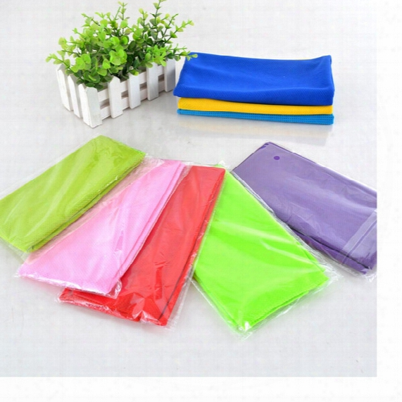 Magic Ice Towel 90*35cm Multifunctional Cooling Summer Cold Sports Towels Cool Scarf Ice Belt For Children Adult Wa3339