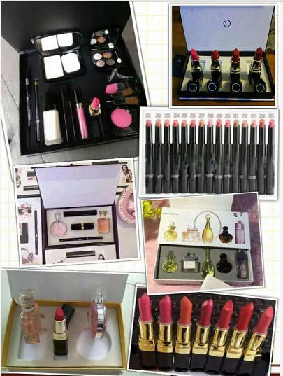 Makeup Listick Sets Pack Cosmetic Set Makeup Medium Mscara Eyeliner Lipstick Lip Gloss Blush Bb Cream Puff Cosmetic Set With Brand Cc Di