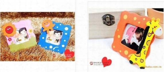 New Cartoon Baby Photo Frame Mixed Cute Wooden Cartoon Children's Kids Photo Frame