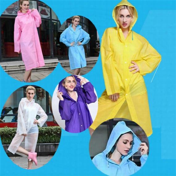 New Easy Carried Rain Coat Wind Coat Eva Women's Hoodde Raincoat Waterproof Transparent Poncho Hiking B0487