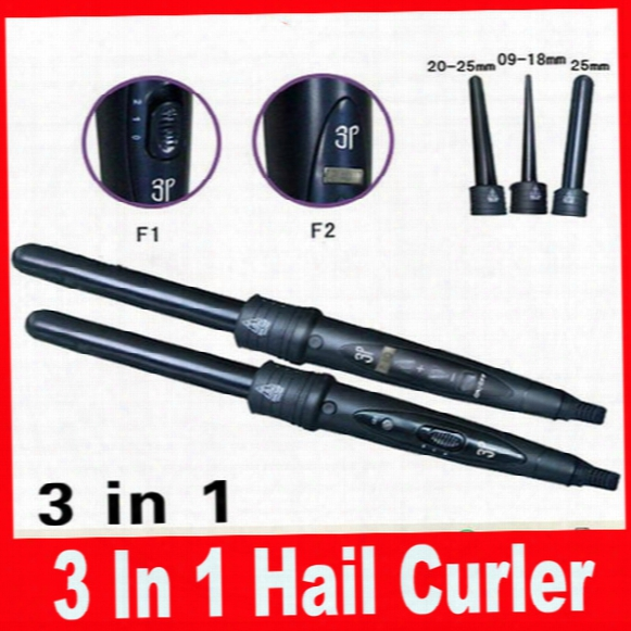 Professional Interchangeable 3 In 1 Hail Curler Women Beauty Hair Rollers Curler Iron Curling Wand Iron Hair Care Styling