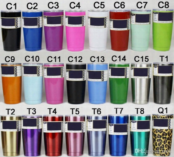 Simple Color Double 304 Stainless Steel Insulation Cup 30/20/12/10 Oz Portable Car Cup Beer Glass With A Cover On