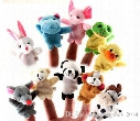 600pcs /lot Cartoon Animal Velvet Finger Puppet Finger Toy Finger Doll Baby Cloth Educational Hand Toy Story b329