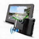 7 inch GPS Navigation Android 4.4 Car DVR Anti Radar Detector Recorder camcorder FM WIFI Truck vehicle gps Built in 8GB Free Map