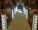 8pcs/lot 115*20*20cm Fantasy Wedding Carved Pillar Banquet Road Lead Stand Decoration With LED Light Built-In