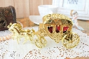 European Styles Romantic Wedding Candy Boxes Golden Carriage Candy Bags Wedding Holder Favor Chocolate Gift Boxes