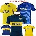 New BOCA Soccer Jersey Carlos Tevez Morbi Jersey camisas de futebol Riquelme Gago Fotball shirts Carlitos Argentina Boca Juniors Maillot