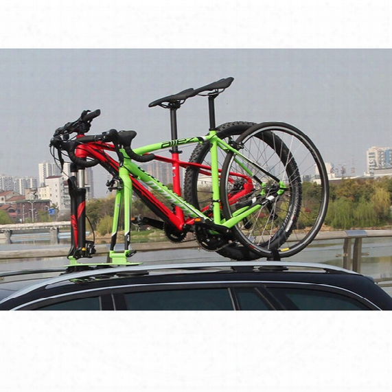 Treefrog Alloy Bycycle Mounts Bike Carrier Roof Rack For Bike Fork Mount Rack With Rear Wheel Sucker Vacuum Cup Mount For Two Bike Supplier