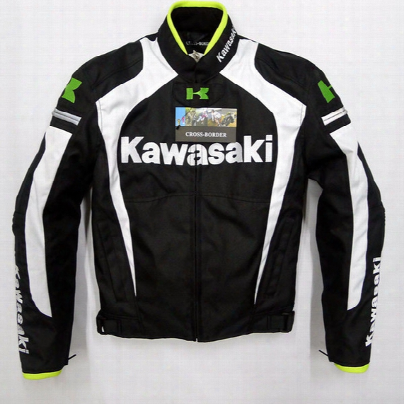 Wholesale-2015 New Arrival Men Motorcycle Jacket Kawasaki Automobile Motocross Motorcycle Racing Clothing Free Shipping