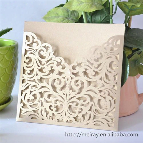 Wholesale-2015 Wedding Invitation Card,laser Cut Wedding Invitations Pocket, Pocket Card Invitations, Wedding Pocket Invitaitons