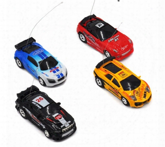 Wholesale 48pcs/lot Mini Rc Racing Coke Can Car 1:64 4ch Radio Remote Control Vehicle Led Light Toys For Kids Xmas Gift