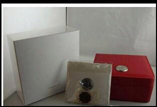 Wholesale Free Shipping Luxury Watch Box New Square Red Box For Watches Booklet Card Tags And Papers In English