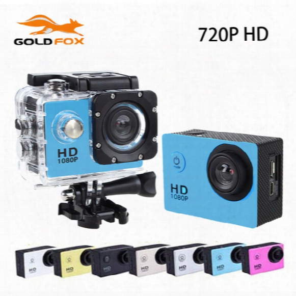 Wholesale-sj 4000 Hd Action Sports Go Waterproof Pro Camera Dv 720p Cameras Helmet Bike Car Sports Mini Cam With Retail Box Mini Camera