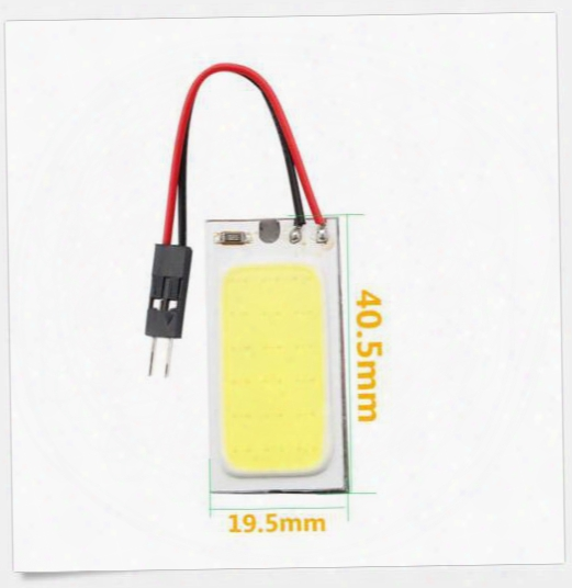 100cs Large Size Cob 18smd T10 + Festoon Adapters Led Car Interior Roof Reading Panel Light Interior Reading Bulb