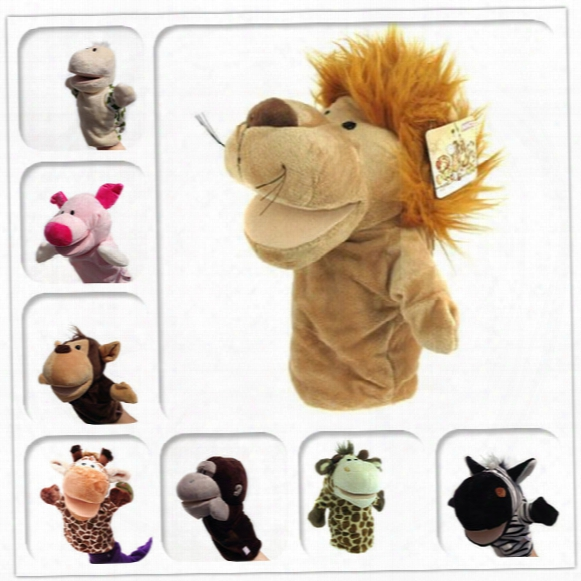 10pcs/lot 25cm Plush Toys Hand Puppet Winnie The Pooh Jumping Tiger Plush Toys Cute Cartoon Animal Pp Cotton Doll For Baby