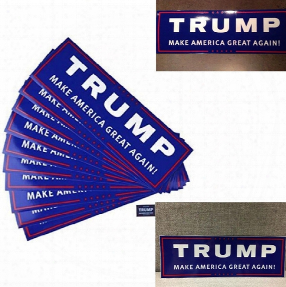 10pcs/set Car Decals Donald Trump For President Make America Great Again Bumper Sticker 10 Pack/lot Exterior Accessories 4584