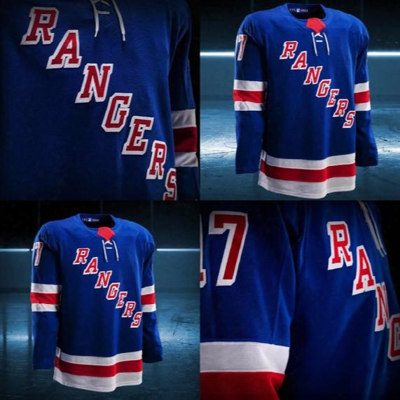 2017-2018 Season Custom New York Rangers J.t. Miller Jimmy Vesey Mats Zuccarello Tanner Glass Chris Kreider Rick Nash Jesper Fast Jerseys