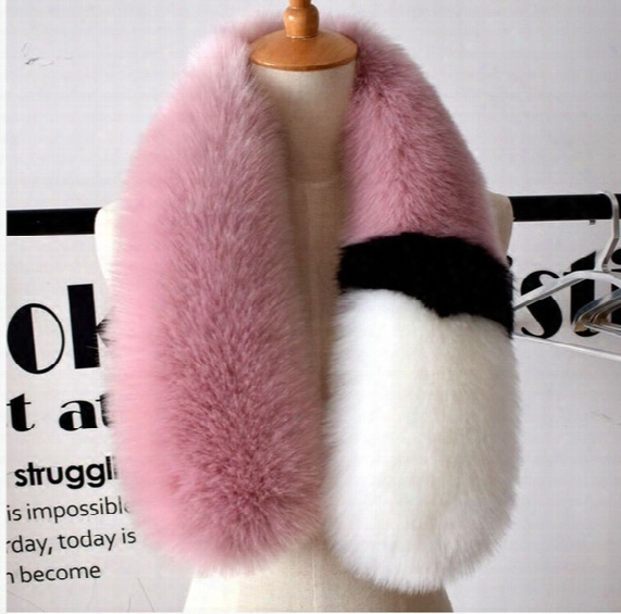 2017 Womens Winter Newest Fashionable Scarf Luxury Brand Scarves Fox Fur Scarfs Foulards Echarpe Hiver Femme Fulares Mujer Schal Luxus Mark