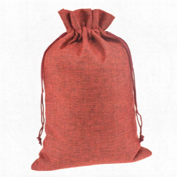 20x30cm 50pcs Gift Jute Burlap Drawstring Sacks Storage Bags For Toys Sock Shoe Scarf Reusable Home Decor Customized Logo Printed