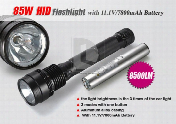 85w Hid Lamp 8500 Lumen Xenon Flashlight Torch 2000m Light Distance + Carry Box S565