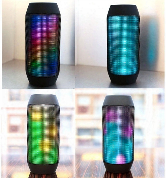 Bluetooth Speaker New Pulse Portable Wireless Speaker Support 360 Led Colorful Lights Usbk And Tf Card Outdoor Speaker With Retail Package