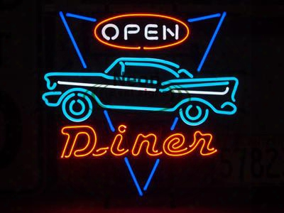 Diner Open Car Neon Sign Handicraft Custom Real Glass Tube Light Signs Bar Beer Pub Store Hung Wall