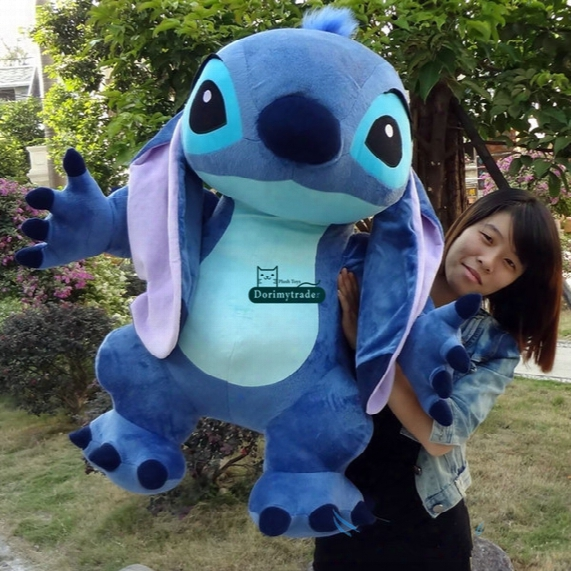 Dorimytrader 35'' / 90cm Japan Anime Large Stuffed Soft Plush Cute Giant Cartoon Stitch Toy Doll Nice Kids Gift Free Shipping Dy60156