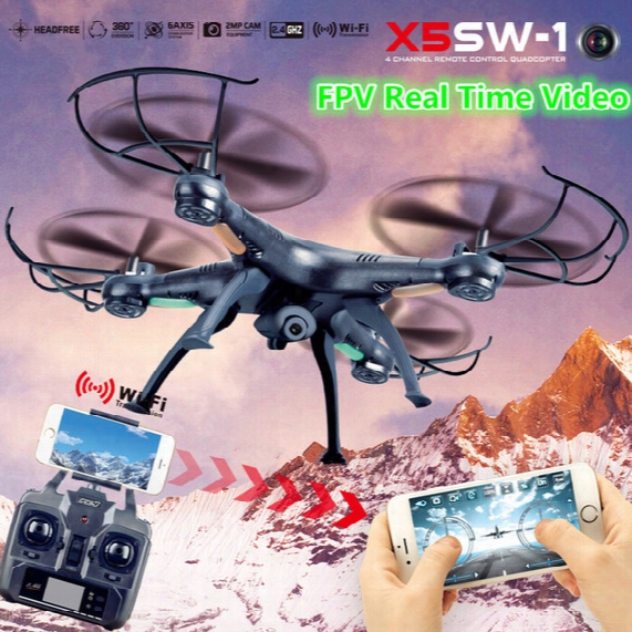 Drone Camera Wifi Fpv Quadcopter X5sw X5sw-1 Drones With Camera Hd Professional Remote Control Helicopter Dron Rc Helikopter