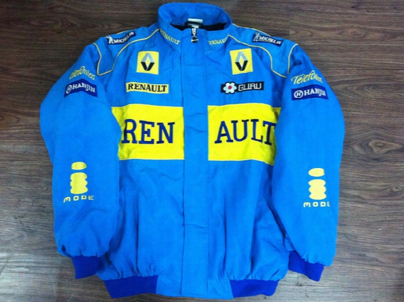 Embroidery Logo Fia Nascar Indycar V8 Supercar Racing Jacket Renault F1 Racing Team Cotton Jacket A088