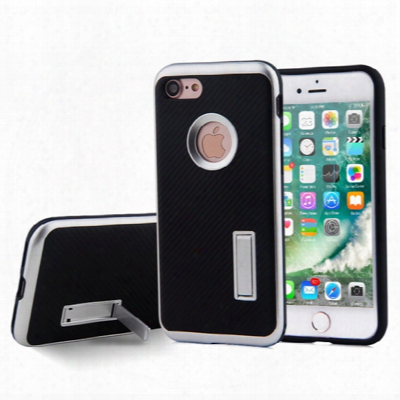For Apple Iphone 7 7 Plus Case 2 In 1 With Kickstand Motomo Stent Carbon Fiber Tpu Pc Shockproof Cell Phone Cover Cases