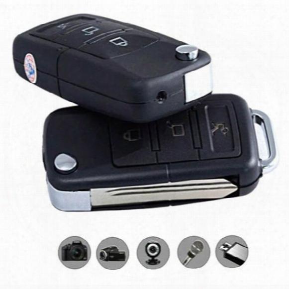 Hd 720p Mini Spy Car Keys Camcorder Hd Car Key Chain Camera Hidden Motion Detect Spy Video Recorder Concealed Camera Mini Dvr