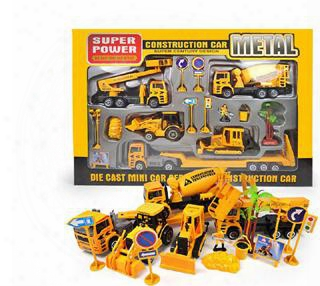 Kids Toys New 1:50 Alloy Engineering Toy  Car Mining Car Fire Car Truck Educational Children Birthday Present Diecasts & Toy Vehicles