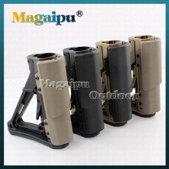 Magaipu .high Quality Tactical Compact Type Buttstock For Ar15 M16 Carbines Using Ctr Version Black/tan