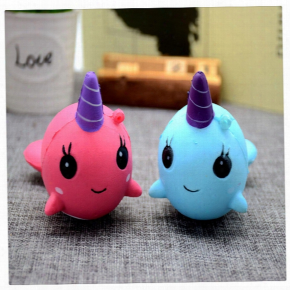 New 10cm Kawaii Squishies Cute Squishy Whale Millie Billie Soft Slow Rising Squishies Cartoon Toy Gift Bread Stress Relief Toys Free Dhl