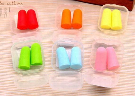 New Sale Foam Sponge Earplugs Great For Travelling & Sleeping Reduce Noise Ear Plug Randomly Color Drop Shipping