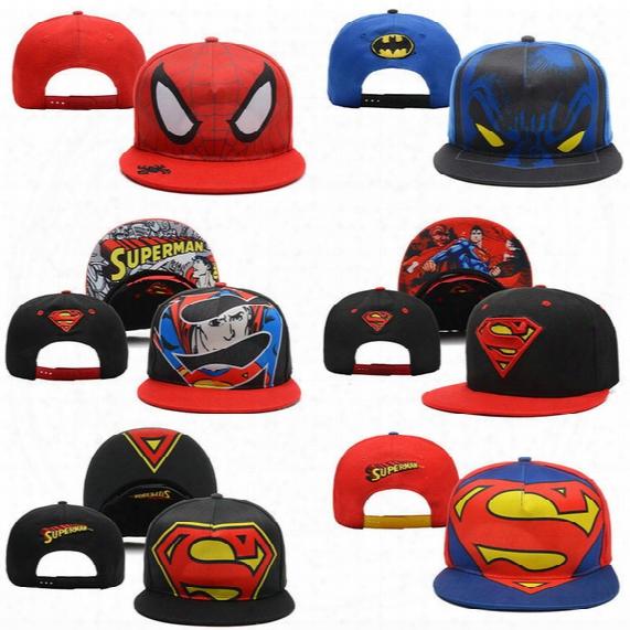 New Unisex Superman Batman Cartoon Baseball Cap Hip-hop Hat Dj Hat Snapback Wholesale Snapbacks Adjustable Hats Men Caps Women Ball Caps