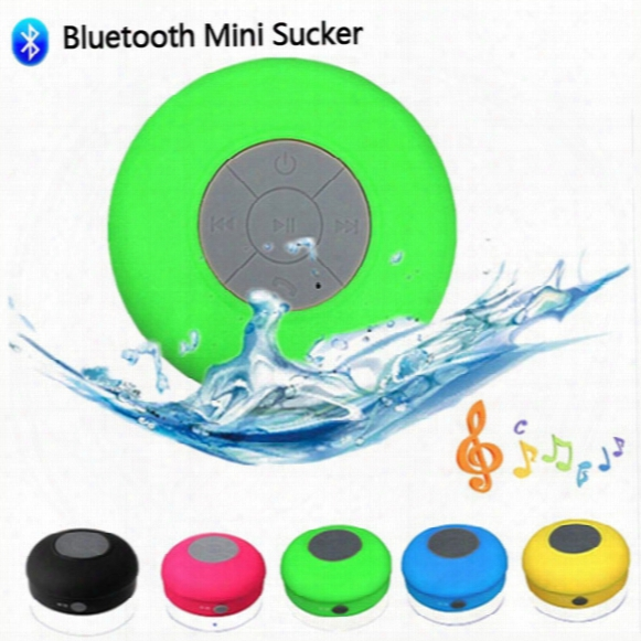 Original Mmini Portable Ipx4 Shower Waterproof Wireless Bluetooth Speaker Subwoofer Car Handsfreee Receive Call Sucker With Mic Retail Box