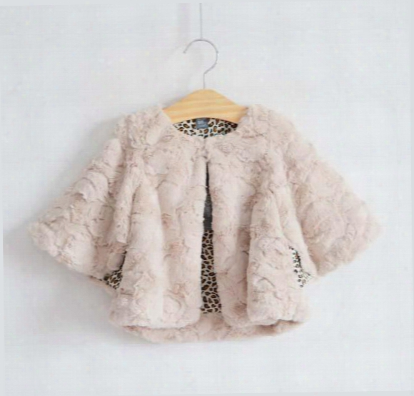 Poncho Coat Baby Thick Cloaks/mantle Children Poncho Fur Coat Winter The Poncho Fashion Leopard Print Cardigan Kids Casual Coat Girl Clothes