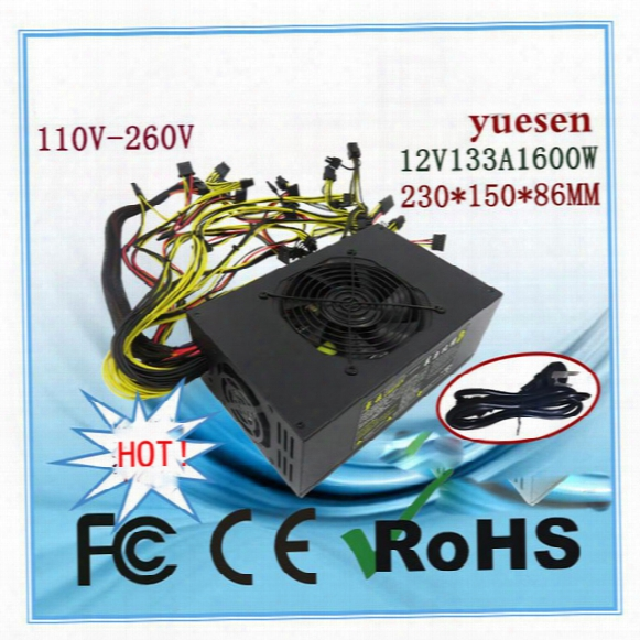 Psu 1600w Power Supply For Ethereum 110v-260v Eth Miner Mining Graphics Card Rx480 Rx470 Rx570 Rx580 Ce Fc Rohs Via Dhl