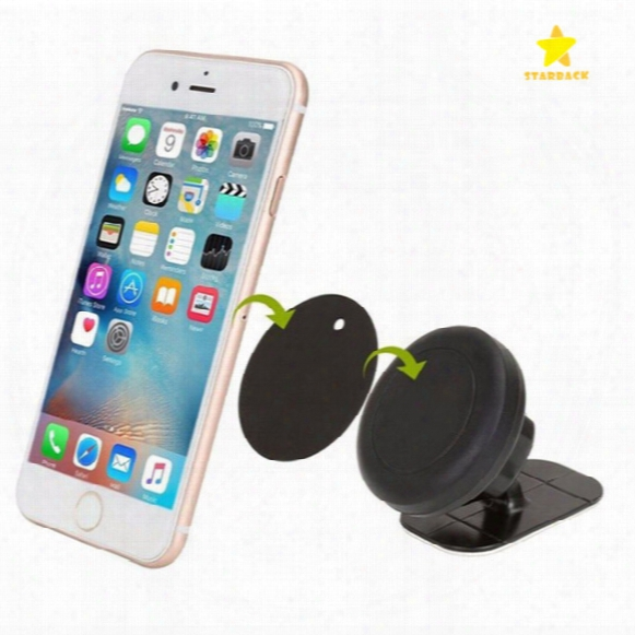 Stick On Dashboard Magnetic Car Moun Universal Car Mount Cellphone Holder For Iphone 7 Plus One Step Mounting Reinforced Magnet