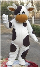 black and white Cow Mascot Costumes Cartoon Character Adult Sz 100% Real Picture